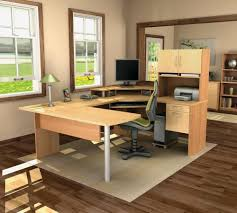 U Shaped Computer Desk With Hutch by Do It Yourself U Shaped Computer Desk Home And Garden Decor Within