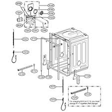 Lg Dishwasher 3850dd3006a Lg Dishwasher Parts Model Ldf7811bb Sears Partsdirect