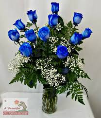 blue roses one dozen blue roses absolutely bluetiful local same day