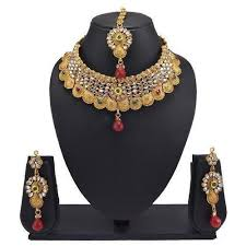 neck necklace gold images High neck necklace set with gold lcd kundan at rs 280 piece jpg