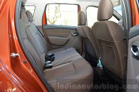 renault duster 2016 interior 2016 renault duster facelift amt rear legroom review indian