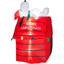 snoopy doghouse christmas decoration 5 snoopy on doghouse airblown christmas decoration