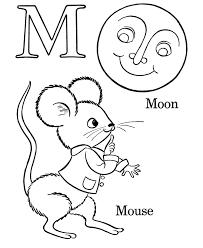 farm alphabet abc coloring page letter m homeschool