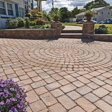 Brick Patio Pattern Concrete Pavers Design On Backyard Landscaping Patio Design