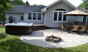 backyard patio ideas with fire pit contemporary patio designs with fire pit and tub firepit