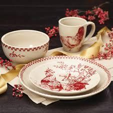 bonjour dinnerware chanticleer country 16 piece stoneware