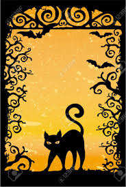 cat halloween wallpaper cute black cat vector grunge wallpaper royalty free cliparts
