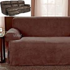 Couch Covers For Reclining Sofa by Reclining Chair Slipcover Ribbed Texture Chocolate Adapted For