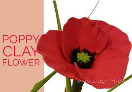 easy clay poppy flower tutorial youtube