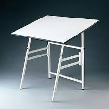 Drafting Table Top Material Alvin Professional Folding Drafting Table 36x49 Top White Base