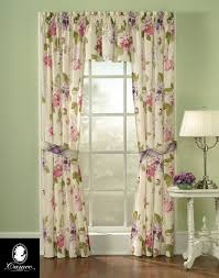 Floral Curtains Blossom Cotton Floral Panel Set Curtainworks