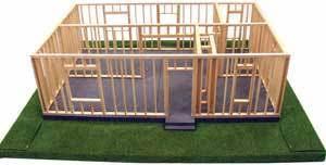 kelvin small a frame model house kit kelvin educational