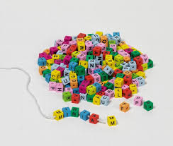 Make Your Own Name Necklace Letter Cubes With Drilling To Thread Up On A String Gollnest