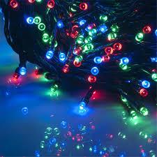 multi colored led christmas lights solar powered led string light 200 500leds 21 51m lighting garden