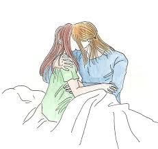 sketch couple kissing by celwen85 on deviantart