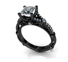 black band engagement rings lovely black gold wedding rings for