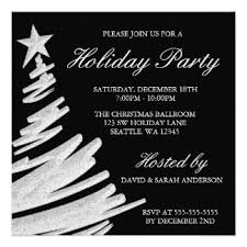 black and white christmas party invitations u0026 announcements zazzle