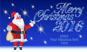 2016 merry christmas funny santa vector design 04 vector