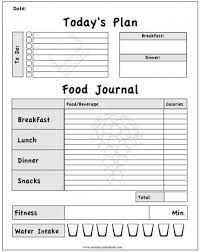 printable daily food intake journal printable workout journal for myself to track my daily foods