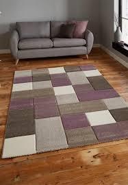 brooklyn 646 beige purple rugs free uk delivery