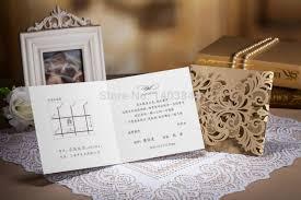 wishmade sale laser cut copper wedding invitation card in gate