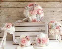 bridal bouquet holder table clip rustic bouquet etsy