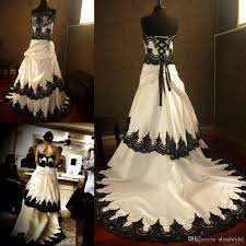 stunning gothic black and white wedding dresses 2015 lace