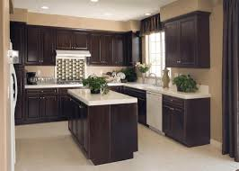 dark cabinet kitchens red bricks gloss color cabinets freezed