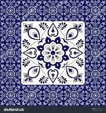 Tile Floor In Spanish by Porcelain Tiles Floor Flowers Pattern Vector Stock Vector