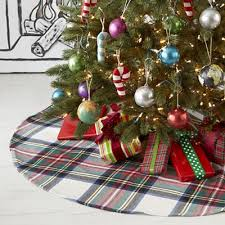 plaid tree skirt tartan plaid tree skirt by crate and barrel land of nod would