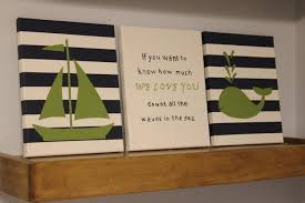 nautical nursery painting sailboat whale count the waves