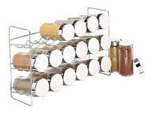 Spice Rack Storage Organizer Chrome Spice Jars And Racks Ebay