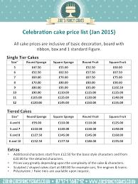 cake prices wedding cake price list idea in 2017 wedding