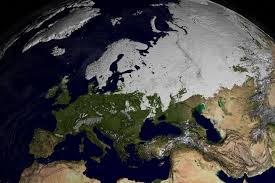Snow Coverage Map Svs Modis Snow Cover Over Europe