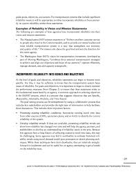 objectives of mission statement 3 incorporating reliability in policy statements guide to page 31