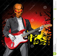 vector halloween scary man with the guitar stock vector image