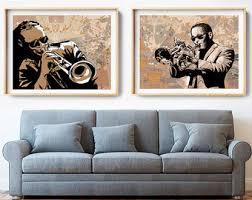 jazz home decor jazz art etsy