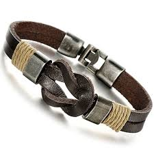 Handmade Mens Bracelets - jstyle jewelry leather bracelet brown handmade bracelets rope