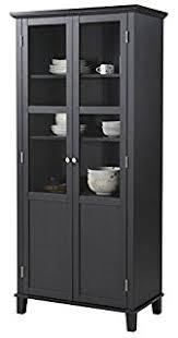 Two Door Storage Cabinet Amazon Com Homestar 2 Door Storage Cabinet White China Cabinets
