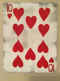 playing cards painting casino poker art 10 of hearts game room
