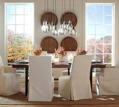 Pottery Barn Dining Room Lighting by Griffin Reclaimed Wood Fixed Dining Table And Wood Benches