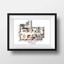 layout apartment amazon com new girl tv show apartment floor plan new girl tv show