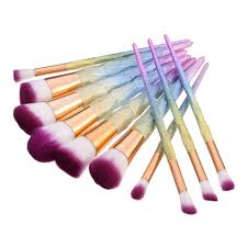 best 10pcs gradient color makeup brushes cosmetics foundation