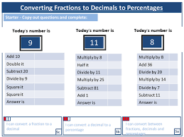 converting fractions to decimals and percentages by harryjob