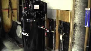 husky 60 gallon air compressor youtube