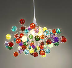 Handmade Chandelier by Multicoloured Chandelier Ceiling Light Colorful Lamps