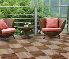 wood floor tiles balcony