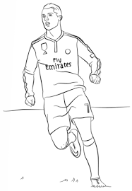cristiano ronaldo from real madrid with number 7 coloring page