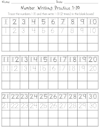 number worksheets 1 30 free worksheets library download and