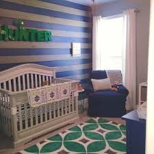 Navy Accent Wall by Kelly Green And Navy Nursery